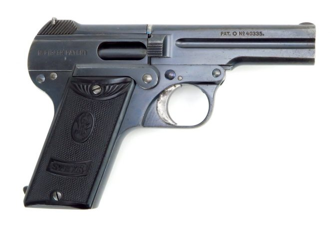Steyr-Pieper Pistol 7.65mm Early production