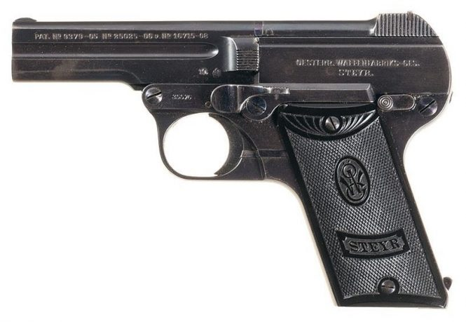 Steyr-Pieper Pistol 7.65mm production 1919