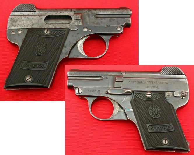 Steyr-Pieper Pistol Model 1909 A second series