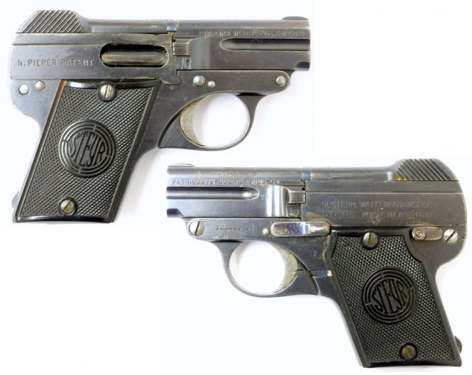 Steyr-Pieper Pistol Model 1909 A post-war issue