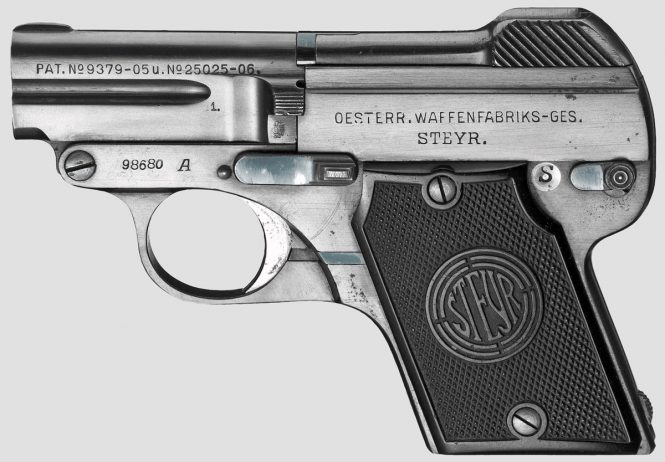 Steyr-Pieper Pistol Model 1909 A manufactured in 1921