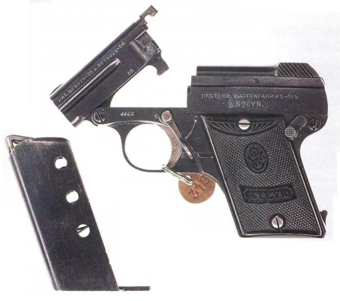 Steyr-Pieper Pistol Model 1909 6,35 mm early production