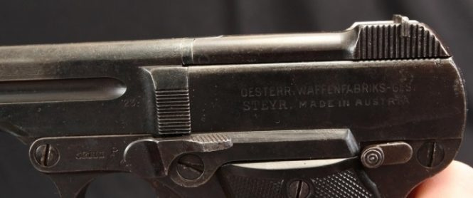 "Steyr-Pieper Pistol 7.65mm M.13 ""P"" series post-war issue"