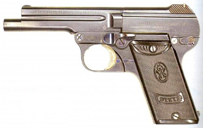 Steyr-Pieper Pistol 7.65mm long barrel