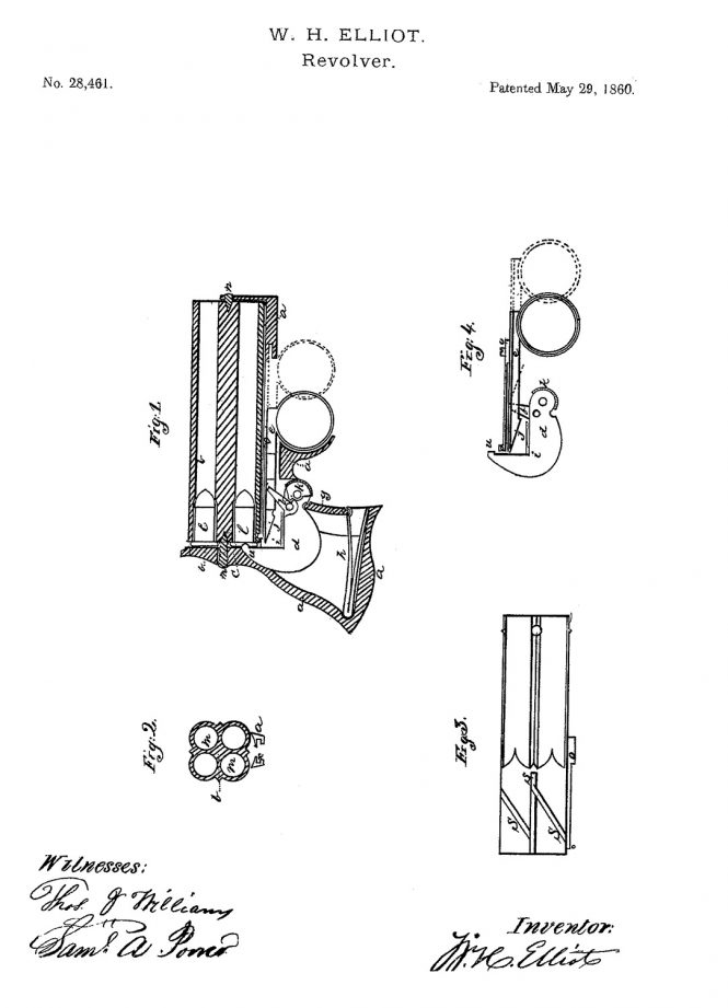 Wm. H. Elliot in hls Patent Number 28461 of May 29 1860