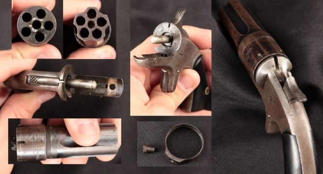 Continental Arms Ladies Companion Pepperbox disassembly