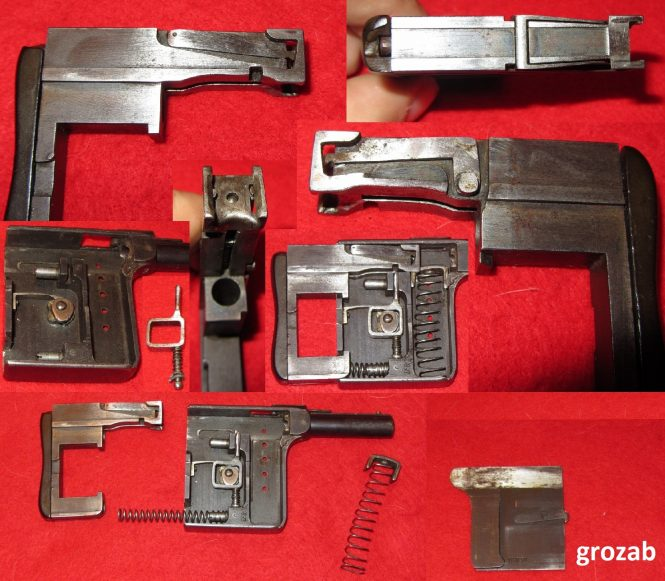 Disassembly of the Gaulois squeezer-pistol
