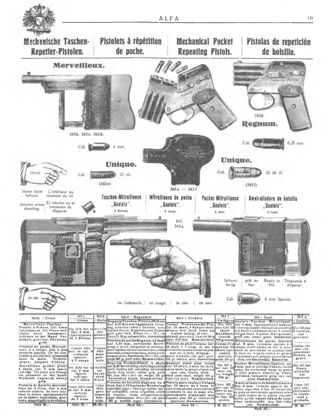 Pistol Le-Gaulois in the Alfa weapons catalog