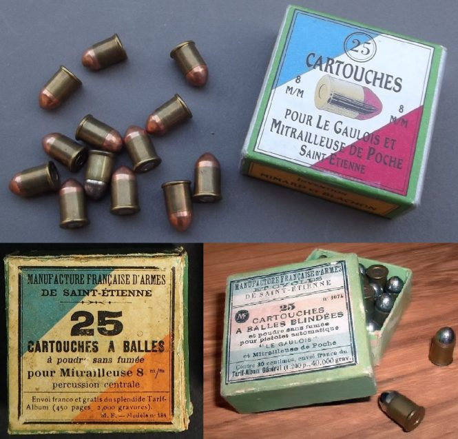 Cartridge 8mm Mitrailleuse / 8mm Gaulois