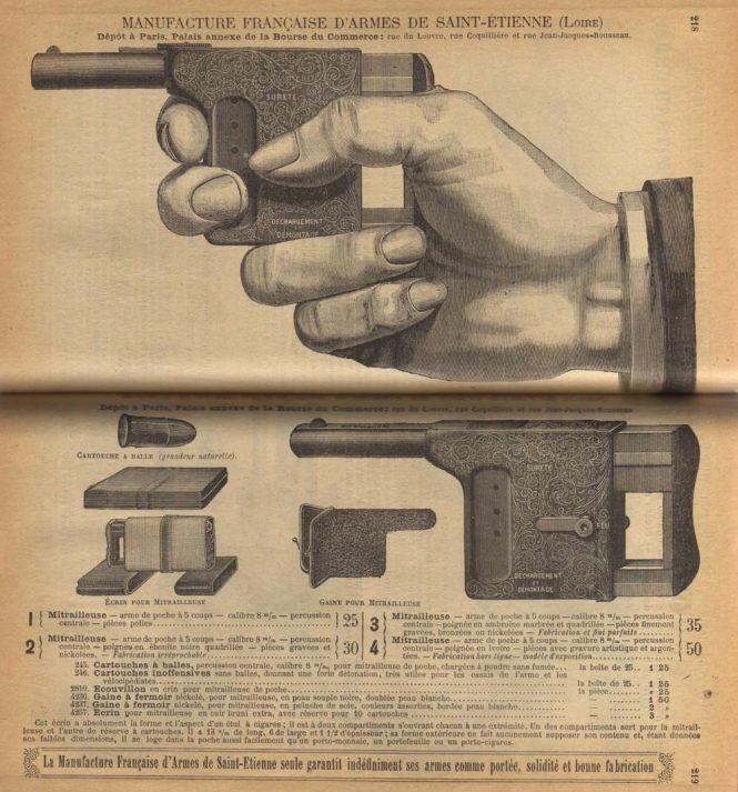 Pistol Mitrailleuse in catalog Manufacture Francaise d'Armes de Saint-Etienne