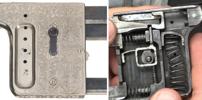 Gaulois pistol lever position - safety