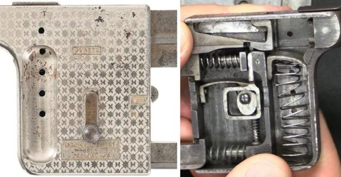 Gaulois pistol lever position - disassembly