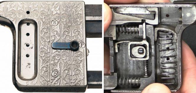 Gaulois pistol lever position - fire