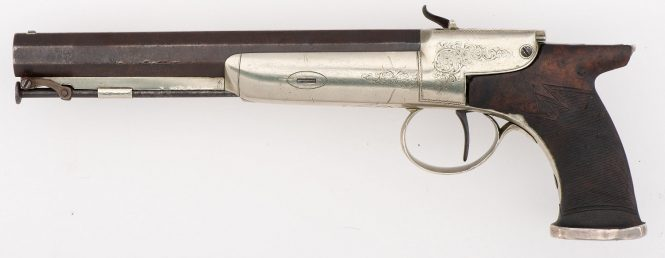Joseph Rock Cooper Enclosed Percussion Pistol