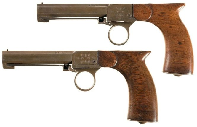 J. Hermad Underhammer Percussion Pistol