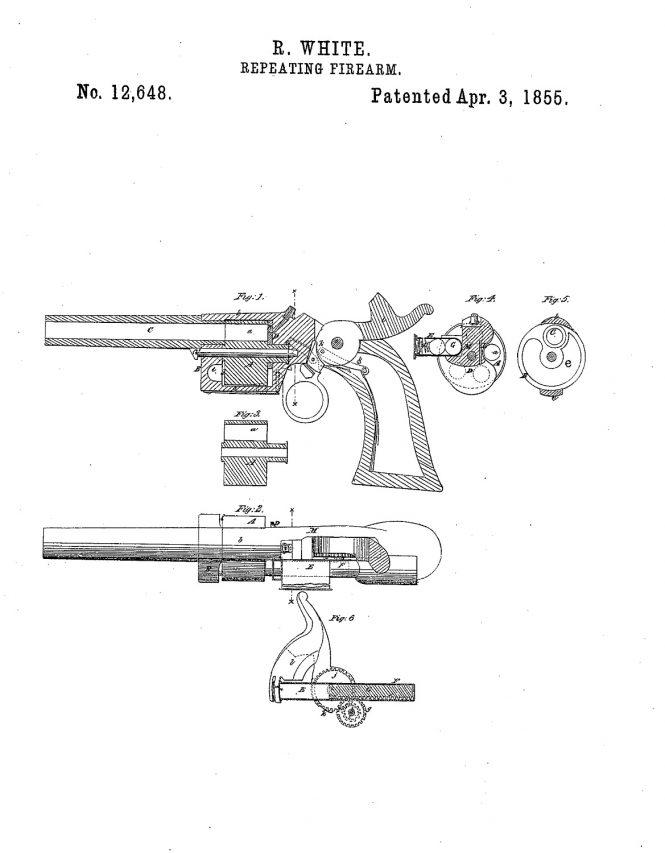 Rollin White Patent №12648 Apr. 3, 1855