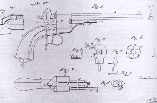 Eugène Lefaucheux patent №19380 on June 10, 1854
