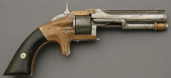 Smith & Wesson Model 1 First Issue 1nd Type Revolver with Scarce Bayonet Latch