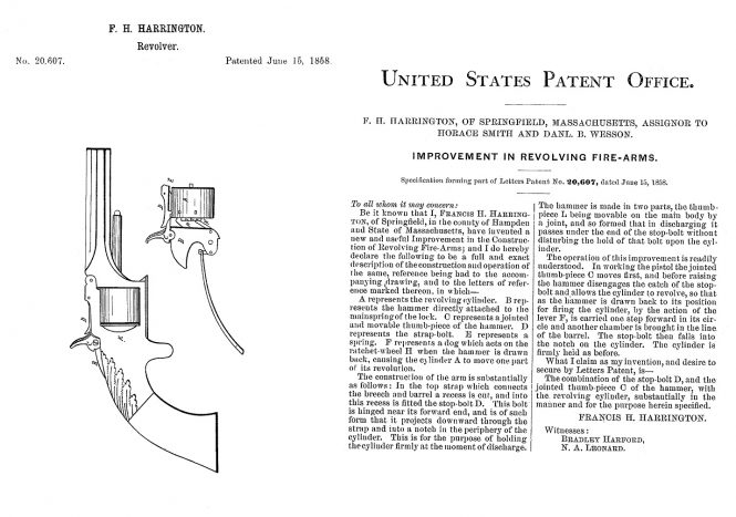 June 15, 1858, Francis H. Harrington US Patent №20607