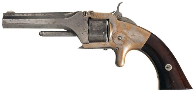 Smith & Wesson Model 1 First Issue 2nd Type Revolver with Scarce Bayonet Latch