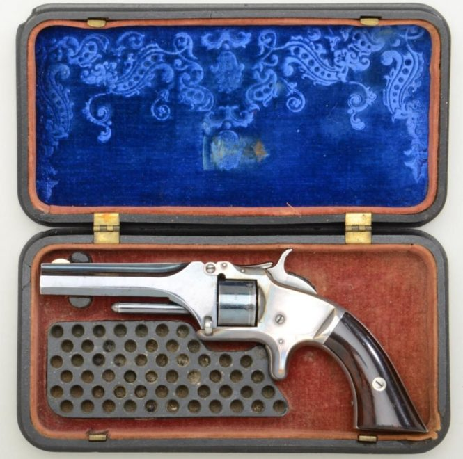 Smith & Wesson Model 1 Second Issue in gutta percha case