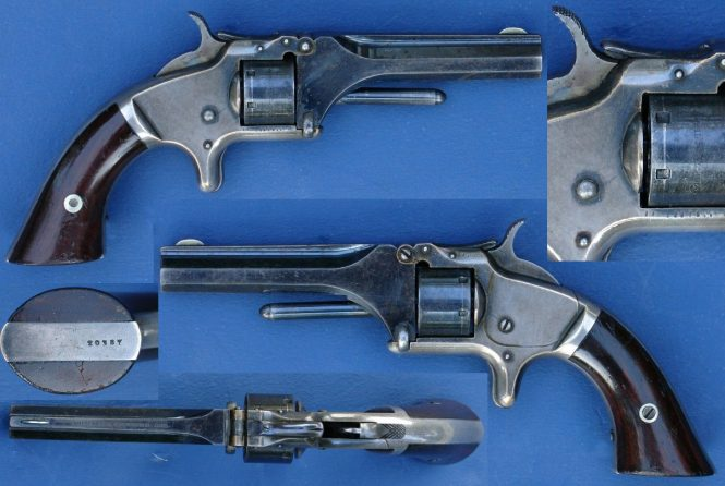 Smith & Wesson Model 1 Second Issue, Standard model, with 1855, 1859, and 1860 date markings