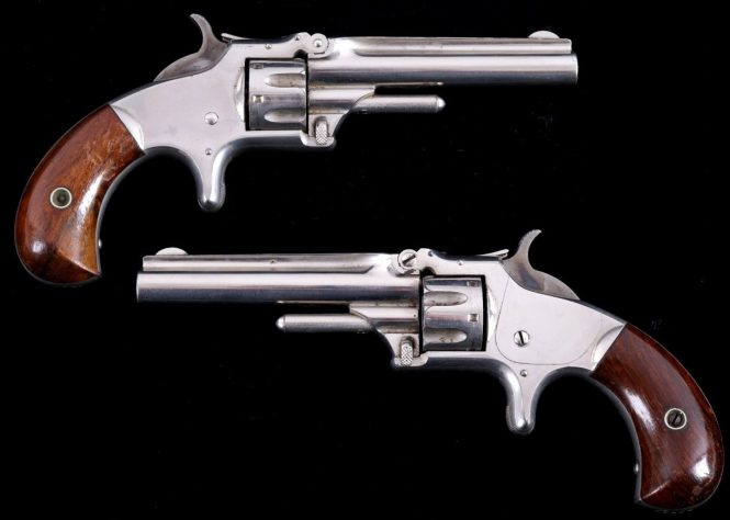 Smith & Wesson Model №1 Third Issue Revolver Nickel finish