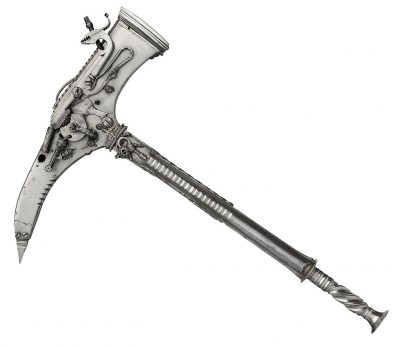 Matchlock and Wheellock combination axe and pistol