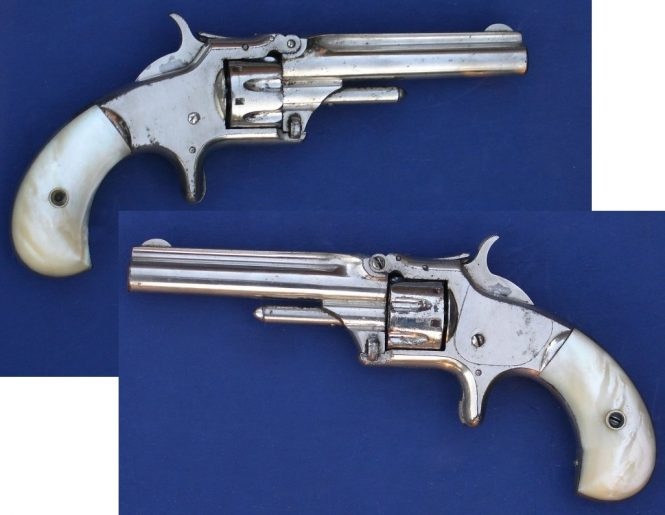 Smith & Wesson Model №1 Third Issue Revolver Nickel finish and perl grips