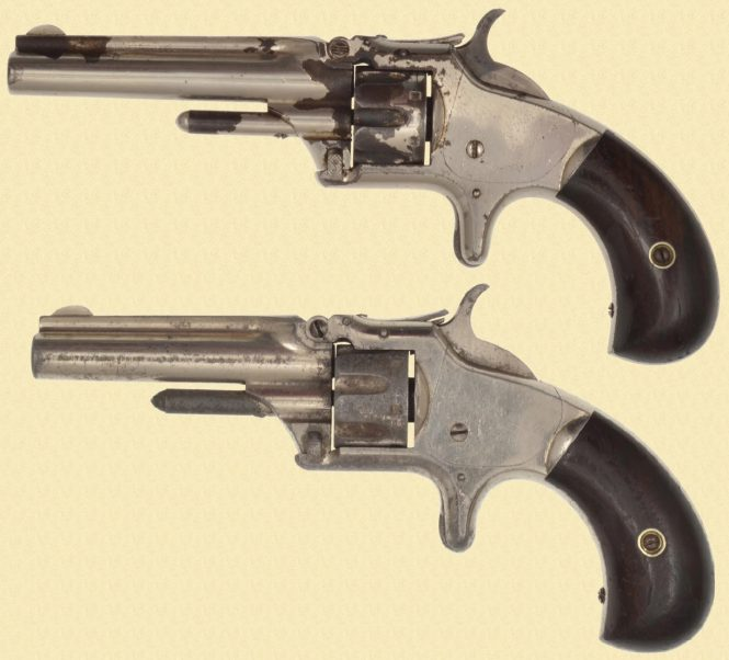 Smith & Wesson Model №1 Third Issue Revolver with Long and Short barrel