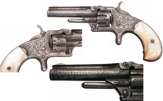 Smith & Wesson Model №1 Third Issue Revolver engraved frame and pearl grips